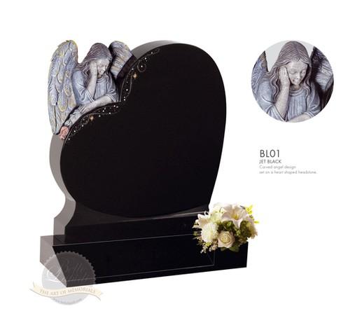 Black Angel Heart, limestone base and kerbs, 2500.oo euro